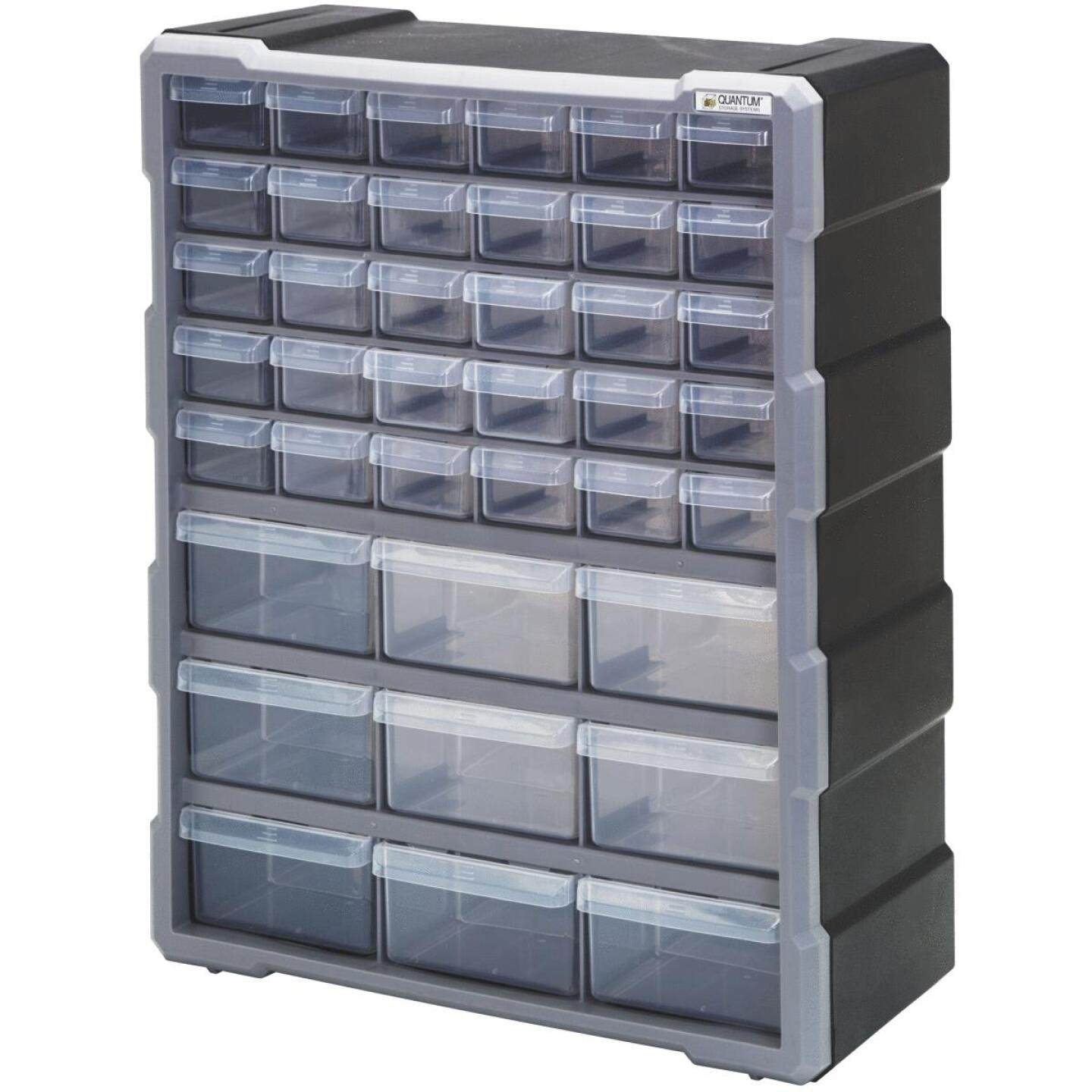 Quantum Storage 15 In. W x 18.75 In. H x 6.25 In. L Small Parts Organizer with 39 Drawers Image 1