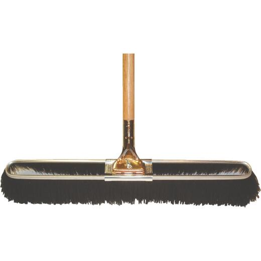 Bruske 23 In. W. x 65 In. L. Wood Handle Medium Sweep Push Broom