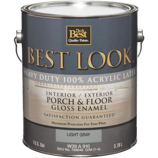 Best Look 1 Gal. Light Gray Base Heavy-Duty Acrylic Latex Gloss Porch & Floor Enamel