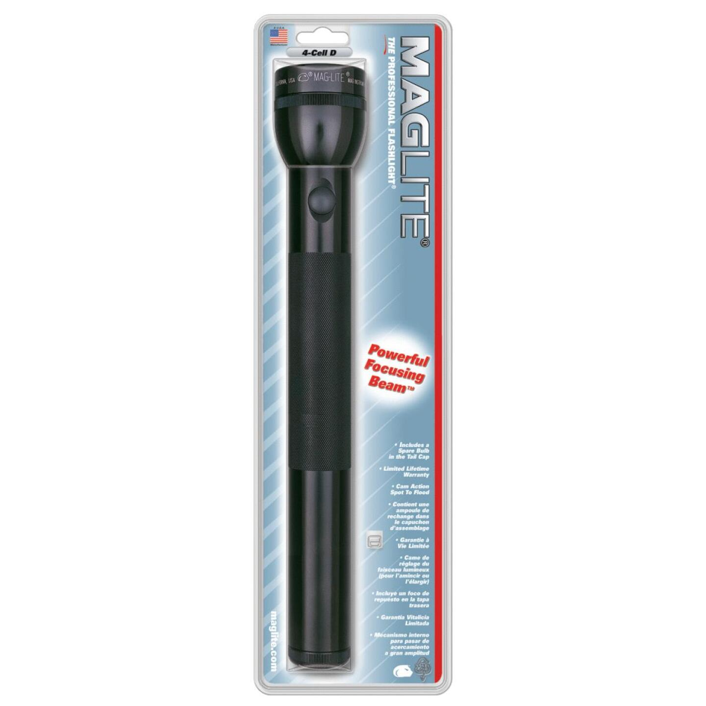 Maglite 98 Lm. Xenon 4D Flashlight, Black Image 2